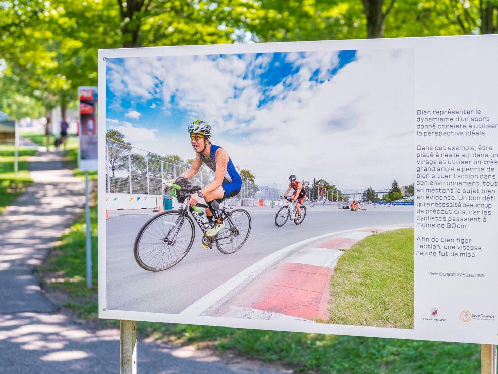 Panel : Montreal Triatlon. Bicycle racers on the Gilles Villeneuve track.10mm ISO1250 1/1250 sec f/5.6, KW:  Lorraine