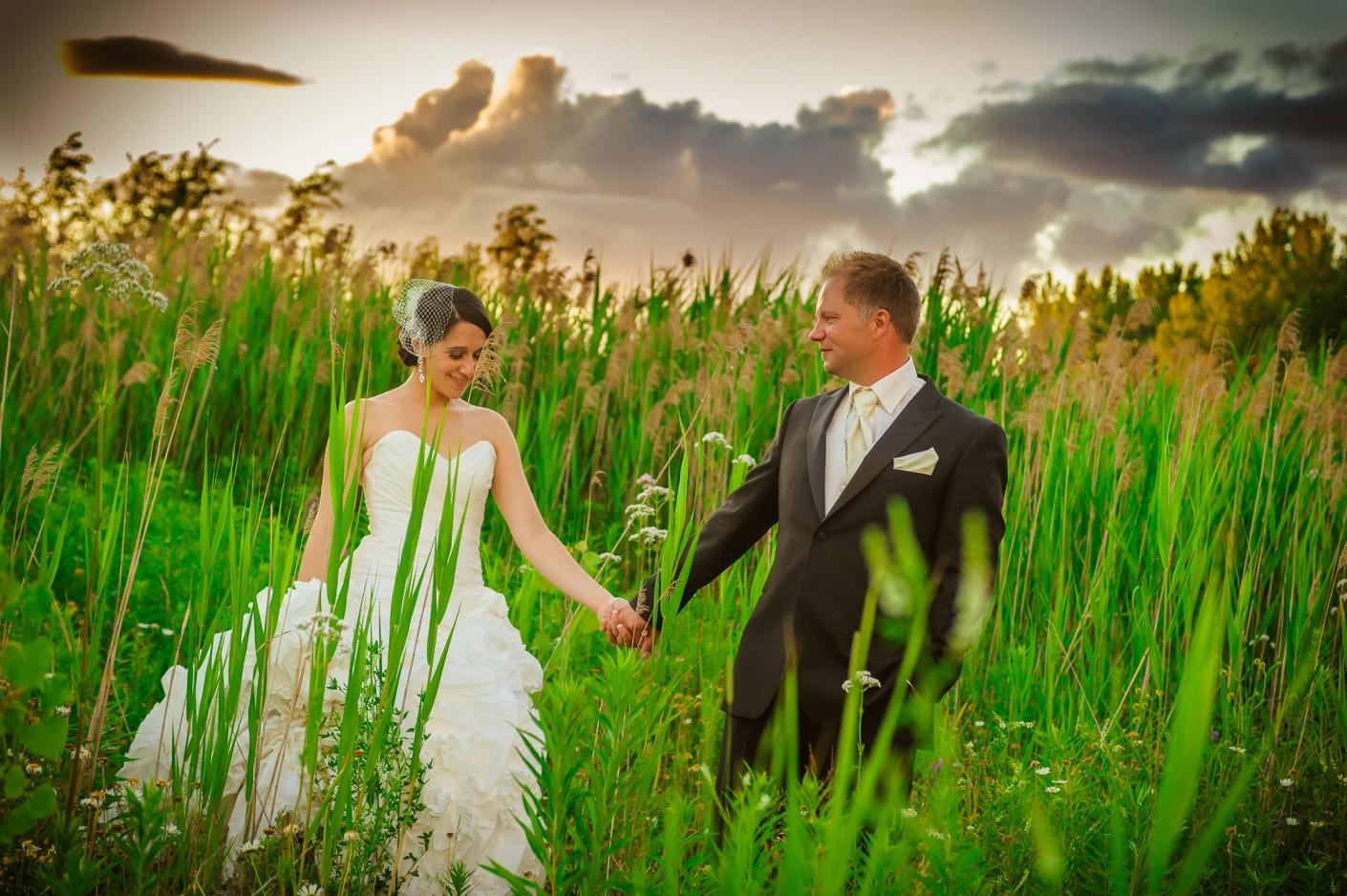 Mariage : Sous le ciel orange