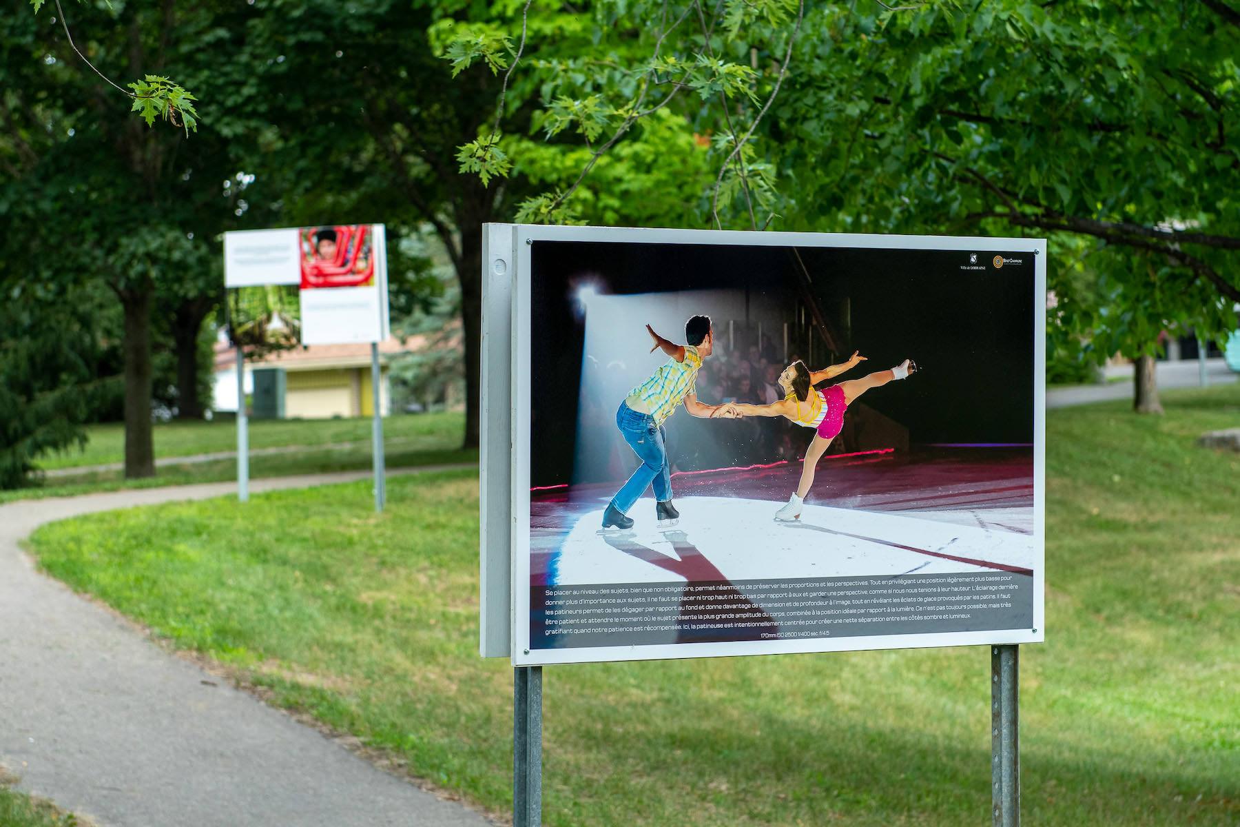 exposition ville Lorraine sentier patineurs
