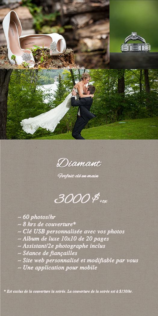 Forfait mariage Diamant